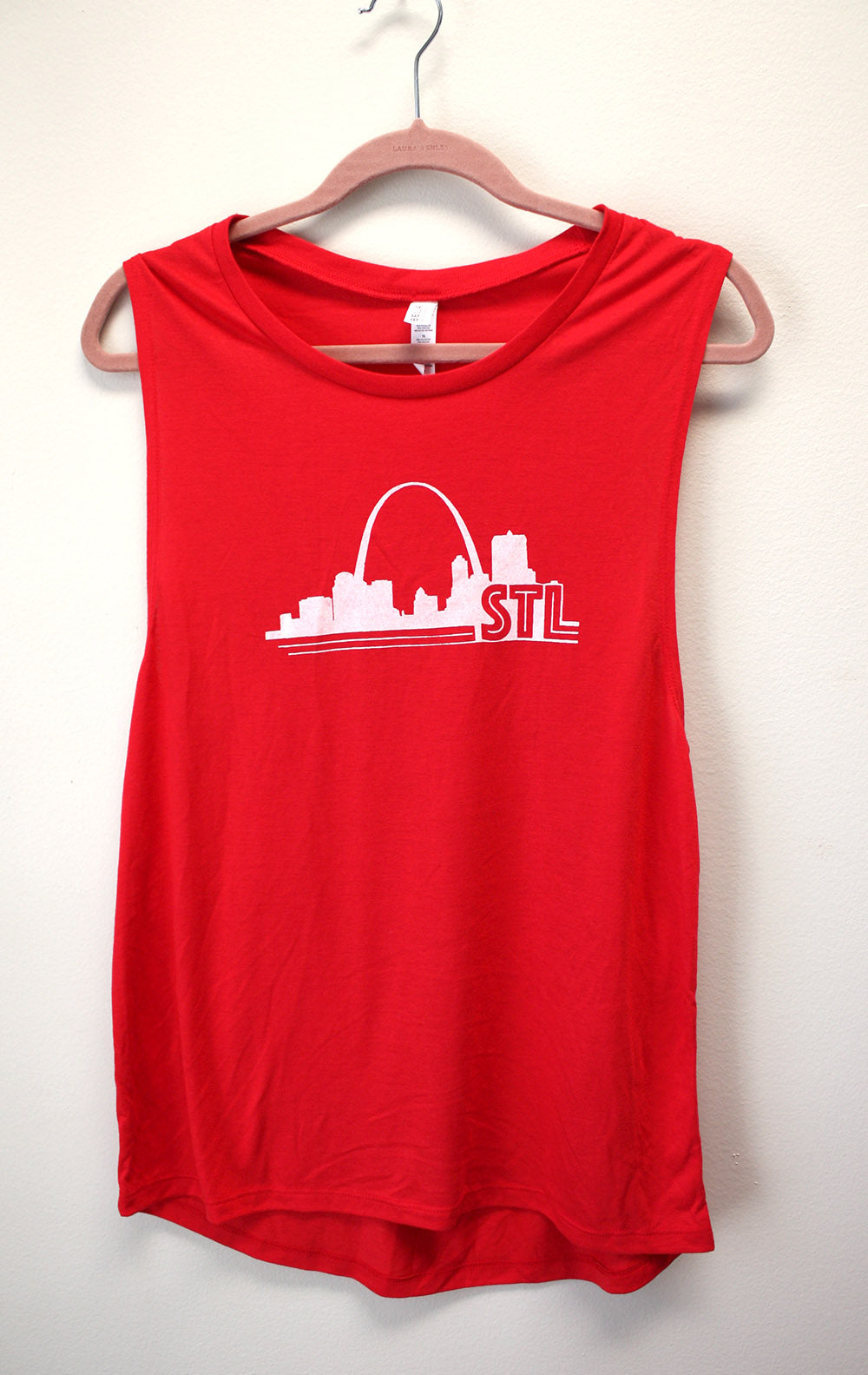 Women's St. Louis Print Muscle Tank Top