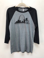 Men's/Women's 3/4 Sleeve Raglan St. Louis Arch Shirt