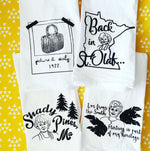 Golden Girls Inspired Flour Sack Towel Collection//Set of 4 towels