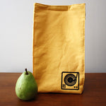 Organic Cotton Turntable Print Lunch Bag