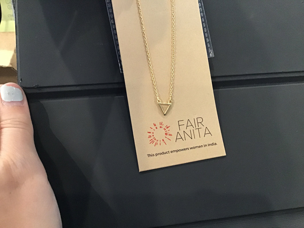 Fair Anita Delicate Triangle Necklace- 14k gold