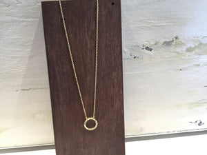 Fair Anita Simple Circle Necklace Brass