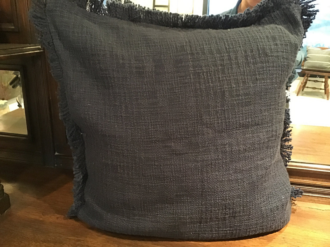 Cloth & Co Khadi cushion - indigo