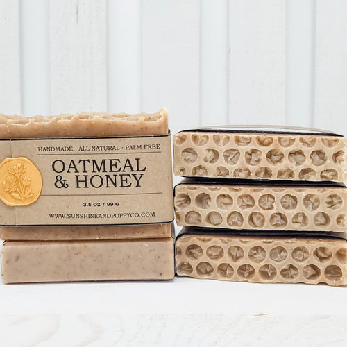 Oatmeal & Honey - Face, Hand & Body Bar (100% Natural) · Handmade Cold Process Soap