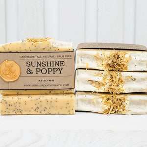 Sunshine & Poppy - Exfoliating Bar (100% Natural) · Handmade Cold Process Soap