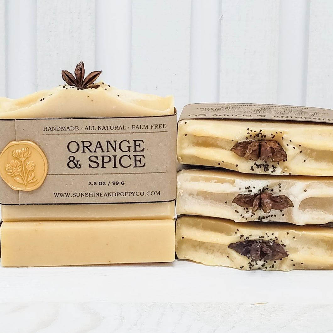 Orange & Spice - Hand & Body Bar (100% Natural) · Handmade Cold Process Soap