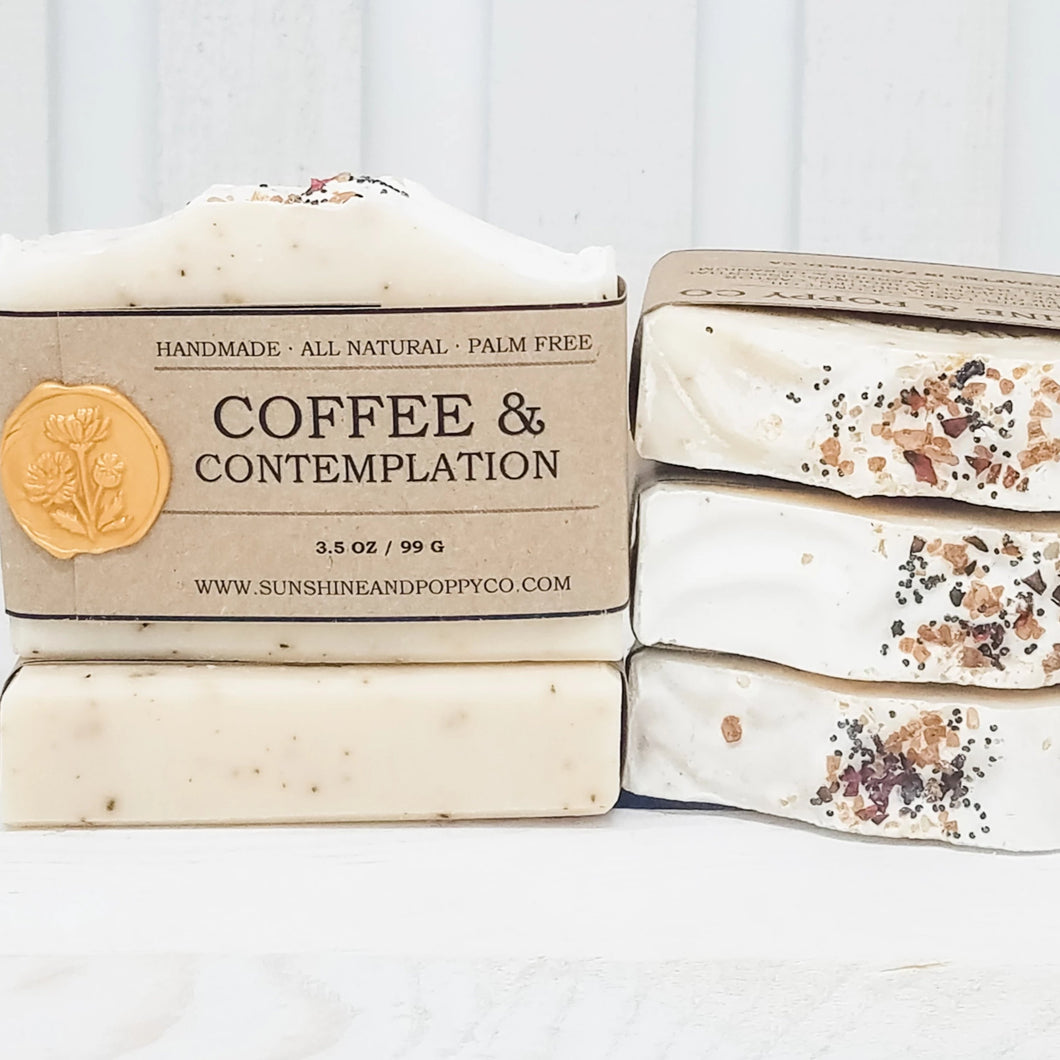 Coffee & Contemplation - Exfoliating Bar (100% Natural) · Handmade Cold Process Soap