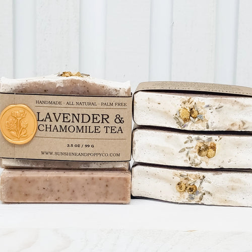 Lavender & Chamomile Tea - Face, Hand & Body Bar (100% Natural) · Handmade Cold Process Soap