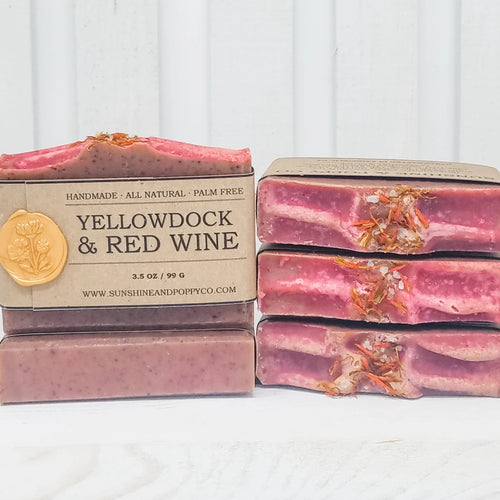 Yellowdock & Wine - Hand & Body Bar (100% Natural) · Handmade Cold Process Soap