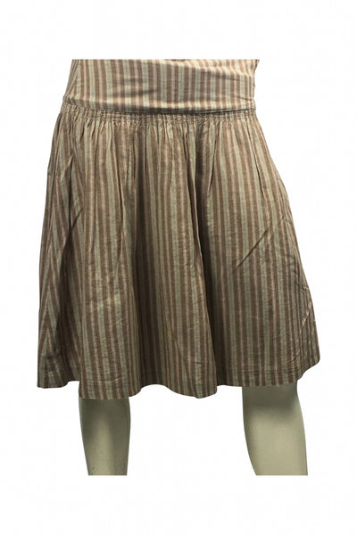 Old Navy, Women's Brown Striped Skirt - Size: 1 (Regular)