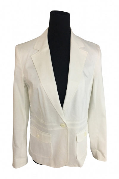 Attention, Women's White 1-button Formal Coat - Size: 10 (Regular)