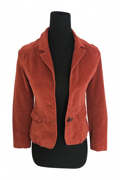 Priorities, Women's Red Fabric Coat - Size: XS (Regular)
