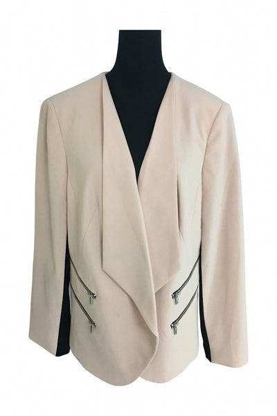 Nine West, Women's White Suit Jacket - Size: 16 (Wide)