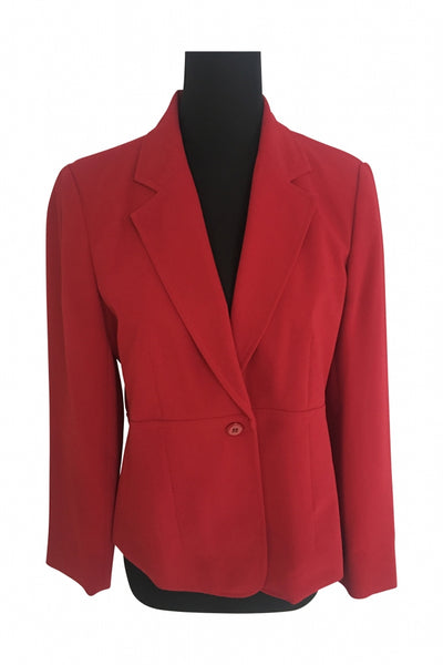 Emma James, Women's Red Blazer - Size: 10 (Regular)