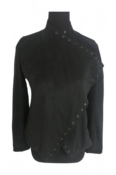 Express, Women's Black Long-sleeved Shirt - Size: XS (Regular)