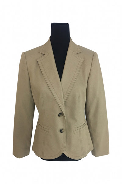 Kasper, Women's Beige Suit Jacket - Size: 12 (Regular)