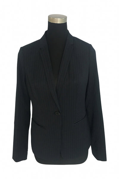 The Limited, Women's Black Notched Lapel Button-up Blazer - Size: S (Regular)