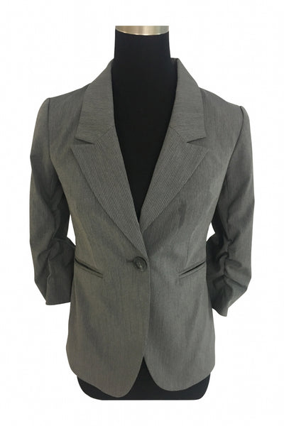 The Limited Collection, Women's Gray Notched Lapel Blazer - Size: 16 (Regular)