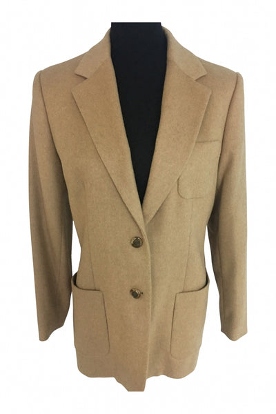 Talbots, Women's Beige Suit Jacket - Size: 10 (Regular)