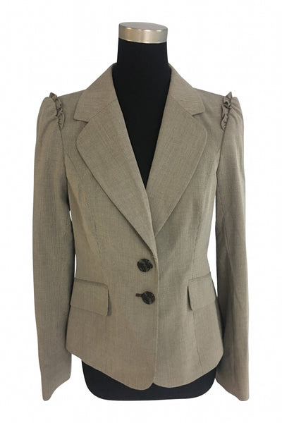 The Limited, Women's Brown Formal Suit Jacket - Size: M (Regular)