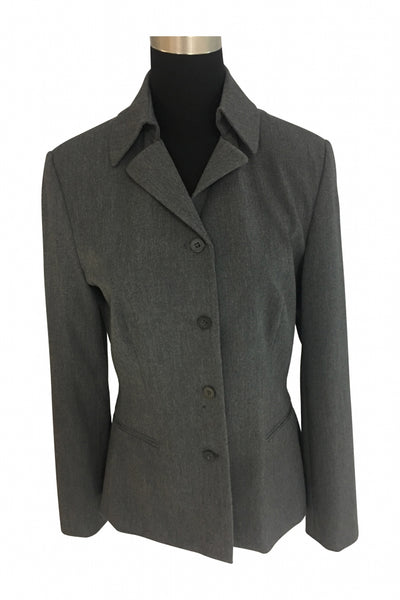 The Limited, Women's Gray Button-up Blazer - Size: M (Regular)