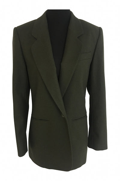 Chelsea Campbell, Women's Green Notched Lapel Suit Jacket - Size: 6 (Regular)