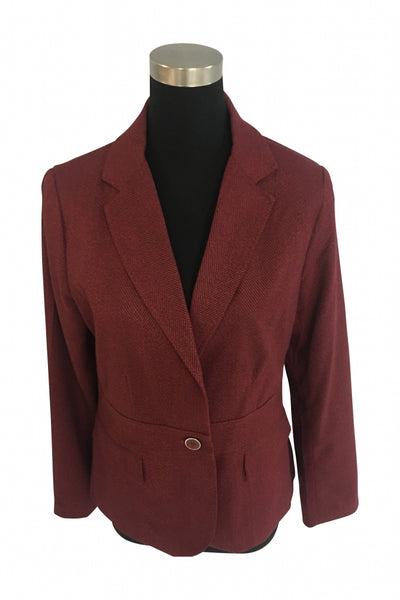 7th Avenue Design Studio New York & Company, Women's Maroon Blazer - Size: 10 (Regular)