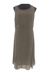 Studio I, Women's Brown And White Polka-dot Sleeveless Dress - Size: 12 (Regular)