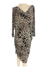Jennifer Lopez, Women's Black And White Leopard Print Dress - Size: XL (Regular)