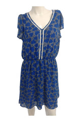 Maison Jules, Women's Blue And White Dress - Size: L (Regular)