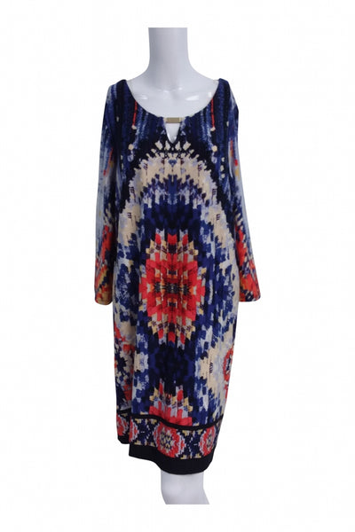 Covington, Women's Black, Red, And Blue Floral  Dress - Size: XL (Regular)