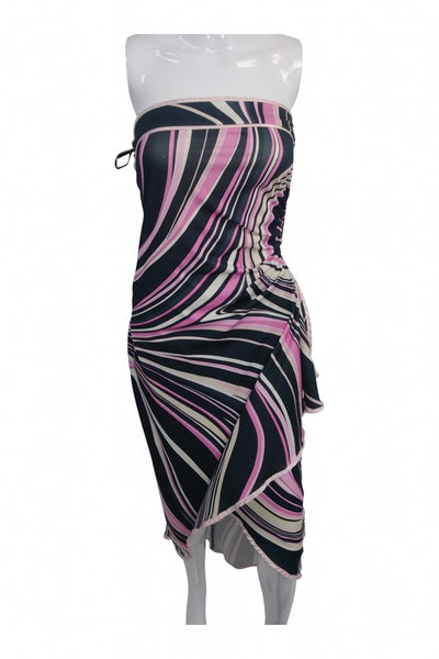 Alyn Paige, Women's White, Black, And Pink Sleeveless Dress - Size: M (Regular)