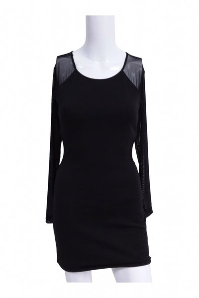 Forever 21, Women's Black Long-sleeved Dress - Size: S (Regular)