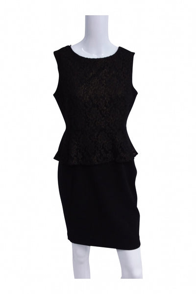 Worthington, Women's Black Scoop-neck Sleeveless Dress - Size: 8 (Petite)