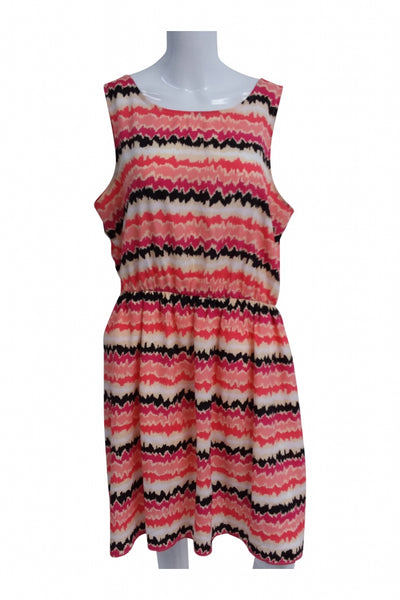George, Women's Red And White Knitted Dress - Size: XL (Regular)
