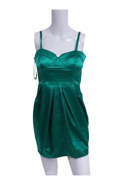 XOXO, Women's Green Sleeveless Mini Dress - Size: 3 (Regular)