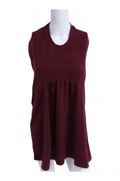 Love On A Hangar, Women's Maroon Short-sleeved Dress - Size: L (Regular)