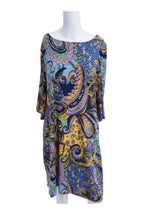 DressBarn, Women's Multicolored Paisley 3/4 Sleeved Midi Dress - Size: 12 (Regular)