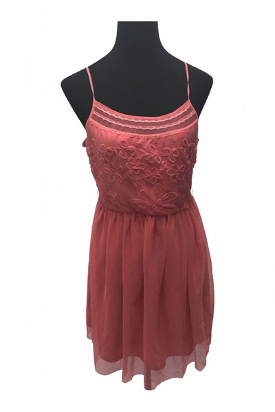 Delias, Women's Pink Spaghetti Strap Dress - Size: M (Regular)