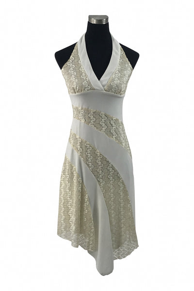 La Belle, Women's White Dress - Size: M (Regular)