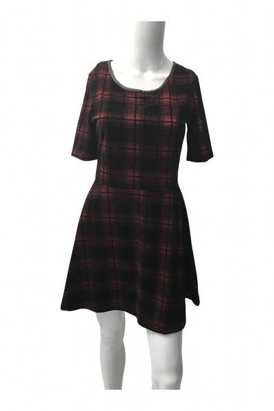 H&M, Women's Maroon And Black  Dress - Size: 8 (Regular)