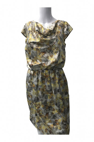The Limited, Women's Yellow And Beige Floral  Dress - Size: S (Regular)