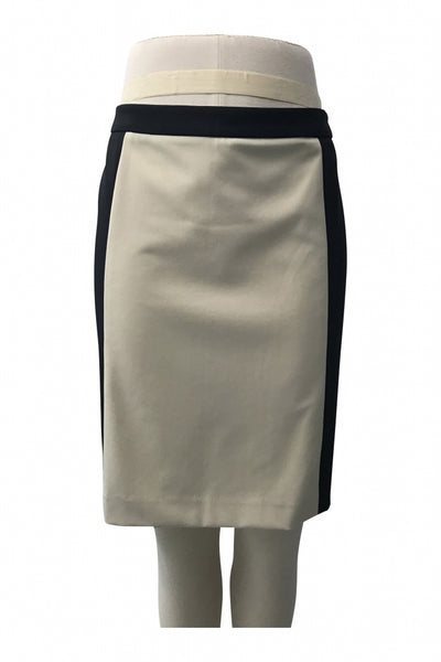 Katanya, Women's White And Black Skirt - Size: 12 (Regular)