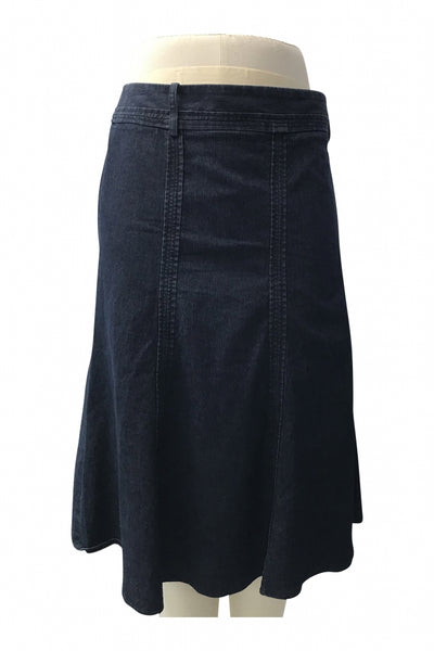 Larry Levine, Women's Blue Denim Skirt - Size: 16 (Regular)