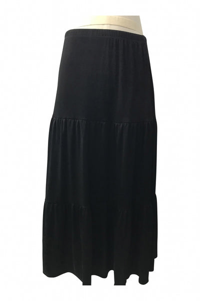 Notations, Women's Black Midi Skirt - Size: M (Regular)
