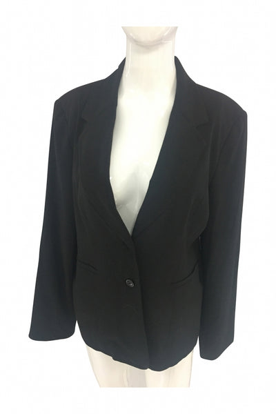 Fashion Bug, Women's Black Blazer - Size: 14 (Regular)