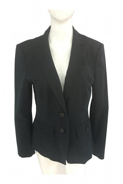 Banana Republic, Women's Black Blazer - Size: 12 (Regular)