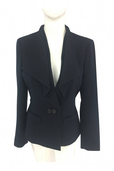Anne Klein, Women's Blue Blazer - Size: 4 (Regular)