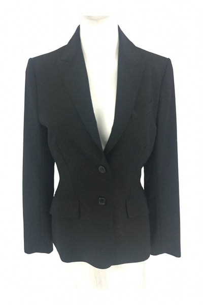 The Limited, Women's Black 2-button Blazer - Size: 4 (Regular)