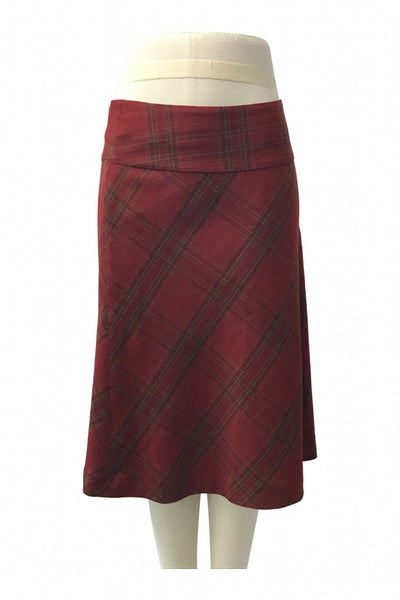 H&M, Women's Red And Black Plaid Skirt - Size: 16 (Regular)